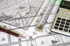 Het plan van de architectuur Stock Afbeeldingen