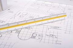 Het plan van de architectuur Stock Foto's