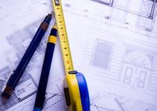 Het plan van de architectuur royalty-vrije stock foto