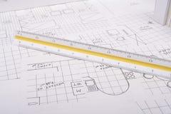 Het plan van de architectuur Royalty-vrije Stock Afbeeldingen