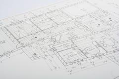 Het plan van de architectuur Royalty-vrije Stock Foto's