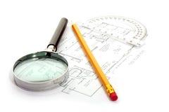 Architectuurplan royalty-vrije stock afbeeldingen