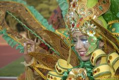 HET PLAN VAN DE BATIKcarnaval VAN 2015 SOLO Royalty-vrije Stock Afbeeldingen