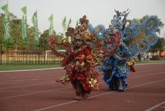 HET PLAN VAN DE BATIKcarnaval VAN 2015 SOLO Stock Foto's