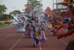 HET PLAN VAN DE BATIKcarnaval VAN 2015 SOLO Royalty-vrije Stock Fotografie