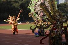 HET PLAN VAN DE BATIKcarnaval VAN 2015 SOLO Stock Foto