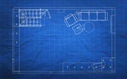 Het Plan van de blauwdrukbouw Royalty-vrije Stock Fotografie