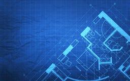Het Plan van de blauwdrukbouw Stock Afbeeldingen
