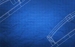 Het Plan van de blauwdrukbouw Royalty-vrije Stock Foto's