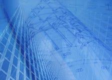 Het plan van de bouw Stock Fotografie