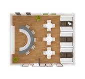 Het plan van de het restaurantvloer van de koffiebar Stock Foto's