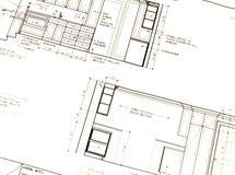 Het Plan van de keuken stock fotografie
