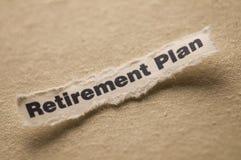 Het Plan van de pensionering Stock Afbeeldingen