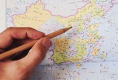 Het plan van de reis aan China royalty-vrije stock foto's