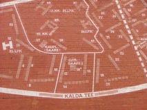 Het plan van de stad royalty-vrije stock fotografie