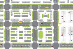 Het plan van de stad Stock Foto's