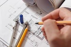 Het plan van de tekening Royalty-vrije Stock Foto's