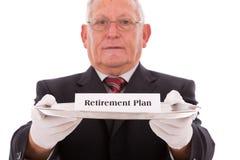 Het plan van de verzekering Stock Foto