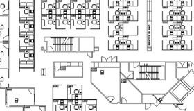 Het plan van de vloer Stock Fotografie