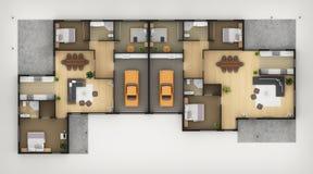 Het Plan van de vloer vector illustratie