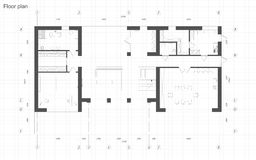Het plan van de vloer Royalty-vrije Stock Fotografie