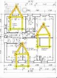 Het plan van de vloer Royalty-vrije Stock Afbeelding