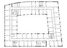 Het plan van de vloer van de bouw Royalty-vrije Stock Afbeeldingen
