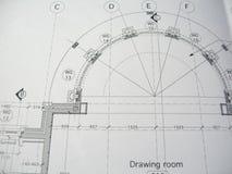 Het plan van de woonkamer royalty-vrije stock foto