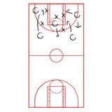 Het plan van het basketbalspel Stock Afbeeldingen