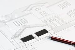 Het plan van het huis stock foto