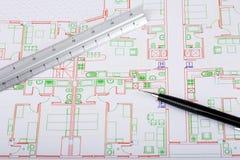 Het plan van het huis Stock Afbeelding