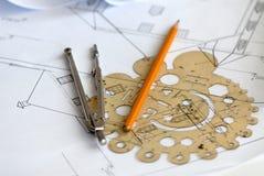 Het plan van het huis Stock Afbeeldingen