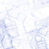 Het plan van het huis: vector achtergrond Royalty-vrije Stock Foto