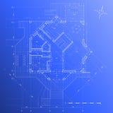 Het plan van het huis: vector blauwdruk Stock Afbeeldingen