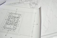 Het Plan van het Ontwerp van de architectuur Stock Foto's