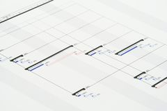 Het Plan van het project Stock Foto's