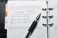 Het plan van vandaag Royalty-vrije Stock Fotografie