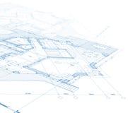 Het planblauwdruk van het huis Royalty-vrije Stock Afbeelding