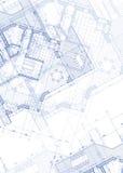 Het planblauwdruk van het huis Royalty-vrije Stock Foto