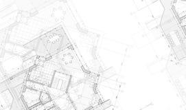 Het planblauwdruk van het huis Royalty-vrije Stock Afbeeldingen