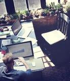 Het Planconcept van zakenmandetermine ideas working royalty-vrije stock foto