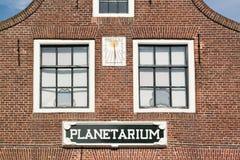 Het planetarium van voorgeveleisinga in Franeker, Nederland stock fotografie