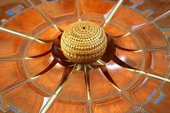 Het planmodel van de Matrimandirarchitect Auroville India stock afbeelding