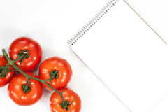 Het plantaardige concept van de tomatengeschiktheid Hoogste mening Stock Foto