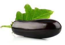 Het plantaardige fruit van de aubergine dat op wit wordt geïsoleerda royalty-vrije stock afbeelding