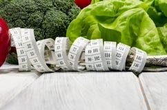 Het plantaardige hoogtepunt van het vermageringsdieet gezonde voedsel van vitaminen Stock Foto