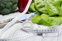 Het plantaardige hoogtepunt van het vermageringsdieet gezonde voedsel van vitaminen Stock Afbeeldingen