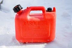 Het plastic Gas kan Royalty-vrije Stock Afbeeldingen