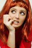 Het plastic Meisje van de Roodharige Royalty-vrije Stock Afbeelding