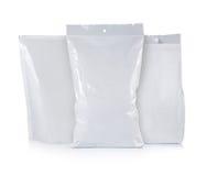 Het plastic pak van chips Stock Foto's